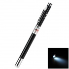 4-in-1 Red Laser + LED White Flashlight + Retractable Pointer + Black Ink Pen Set (6 x LR41)