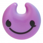 USB Rechargeable Smiling Face MP3 Player - Purple + Black