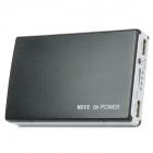 20000mAh Plastic Mobile Power Bank - Black + White