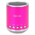 MA-02 Mini MP3 Speaker w/ TF Slot / USB / FM - Deep Pink + Silver