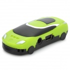 Car Style MP3 Player w/ TF Slot - Black + Green