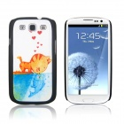 ENKAY Taboo Love Pattern Protective PC Back Case for Samsung Galaxy S3 i9300 - Multicolored