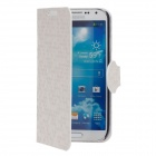 YOTOP Honeycomb Pattern Protective PU Leather Case w/ Holder for Samsung Galaxy S4 i9500 - White