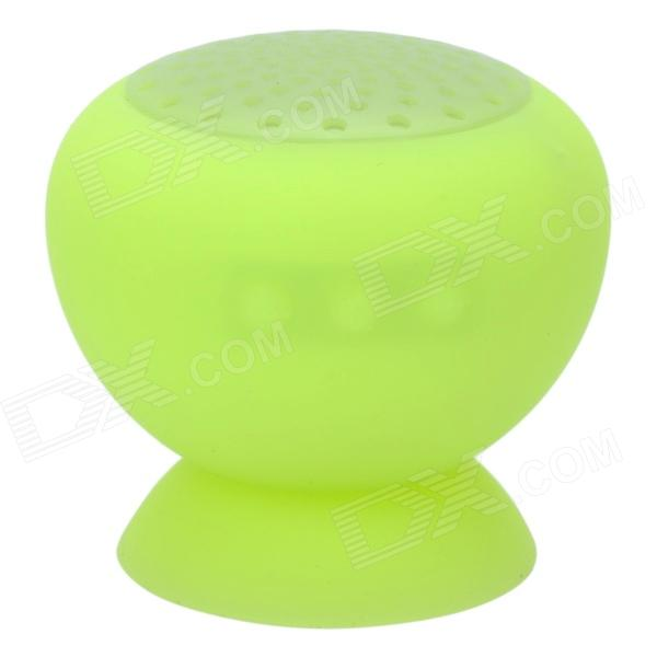 Suction Cup Mount Mini Bluetooth v3.0 Speaker - Light Fluorescent Green