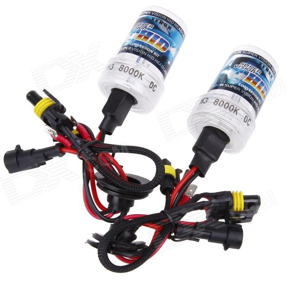 TYZ H3 35W 3200lm 8000K White with Blue Light DC Automobile Xenon Lamps - (2 PCS)