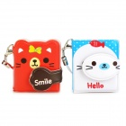 Cute Animal Style Dual-Side Writable Note Memo Books w/ Strap - Red + White (2 PCS)