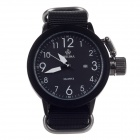ORKINA W010 Fashionable Quartz Analog Wrist Watch w/ Simple Calendar for Men - Black (1 x LR626)