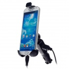 THFC006 Multifunctional Short Push Car Holder + Single USB Output Car Charger for Smartphone - Black