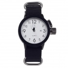 ORKINA W010 Fashionable Men's Canvas Quartz Wrist Watch - Black + White (1 x LR626)