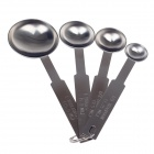 4-in-1 Stainless Steel Measuring Spoons Set - Silver