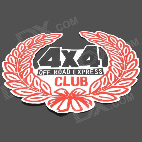 4X4 Rice Ears Pattern Decorative PVC Car Sticker - Red + Black auto accessories chameleon sticker 30m 1 52m functional car pvc red copper color stickers home decorative films stickers