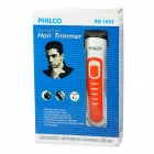 PHILCO Rechargeable Quiet Hair Trimmer Kit - Orange + White