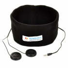 VR 3 Knitted Cotton Sleeping Music Headband + 3.5mm Audio Headphones - Black