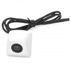 656 x 492 Pixel Waterproof Zinc Alloy Car Rearview Camera - White (NTSC / DC12V)