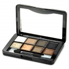 JD-LA4724 07# 8-Color Cosmetic Makeup Eyeshadow Set - White + Black + Brown + Champagne + Silver