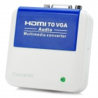 HDMI to VGA + Audio Converter - Blue + White