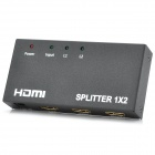 1080P 1-In 2-Out HDMI V1.3 Splitter w/ Power Adapter - Black + White