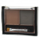 05 2-Color Make-up Cosmetic Eyebrow Powder w/ Brush - Brown + Greyish Brown