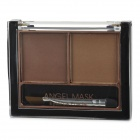 01 2-Color Make-up Cosmetic Eyebrow Powder w/ Brush - Brown + Coffee