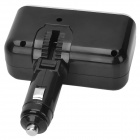 ShunWei Double Socket w/ USB Car Cigarette Lighter Splitter Charger - Black