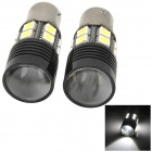 1156 8W 244lm 6500K White Car Brake Backup Light w/ 13-CREE LED - Black