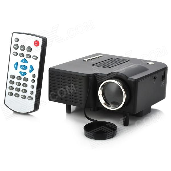 RuiQ UC-28+ 24W Portable Mini LCD Projector w/ HDMI / 3.5mm / SD Slot / AV / VGA / USB - Dark Gray