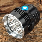 LW-5XT6 5 x CREE XM-L T6 3000lm 3-Mode White Bicycle Light - Black (4 x 18650)