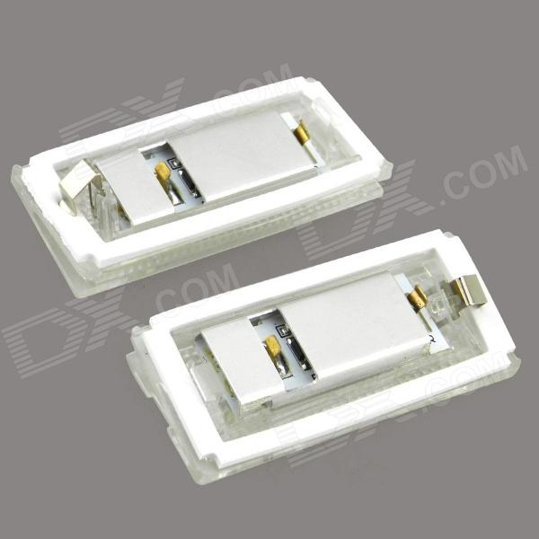 126lm 6500k White Light License Plate Lamp / Daytime Running Lamp for BMW E46 4D (98-03) (2 PCS) new touch glass touch pad touch screen for delta d0p b05s100 d0p b05s101 hmi panel d0pb05s100 d0pb05s101 freeship 1year warranty
