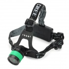 LW-02 400lm CREE XM-L T6 Cool White 3-Mode Zooming Head Lamp w/ Band - Black + Green