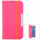 NILLKIN Protective PU Leather + PC Case for Samsung Galaxy S4 i9500 - Deep Pink