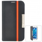 NILLKIN Protective PU Leather + PC Case for Samsung Galaxy S4 i9500 - Black