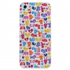 Colorfilm 3D Animal Painting Emboss Protective Plastic Back Case for Iphone 5 - Multicolored