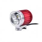 LW-3XT6 3-Cree XM-L T6 Cool White Light 4-Mode 2000lm Bike Lamp- Red + Silver (4 x 18650)