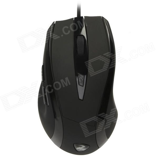 Reicat S460 2000dpi Professional Optical Gaming Wired Mouse - Black (150cm)