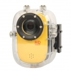 "F10 1.5"" LTPS Waterproof 1080p 5.0 MP CMOS Sport DVR Camcorder w/ G-sensor / TF / Mini HDMI - Yellow"