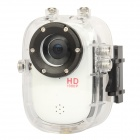 "F10 1.5"" LTPS Waterproof 1080p 5.0 MP CMOS Sport DVR Camcorder w/ G-sensor / TF / Mini HDMI - White"