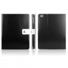 ENKAY ENK-3136 Crazy Horse PU Leather + Plastic Case w/ Stand for Ipad 2 / 4 / 3 - Black