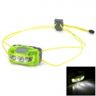 SUNREE Sports 3-LED 37lm 3-Mode White Portable Headlamp - Lawn Green (2 x AAA)