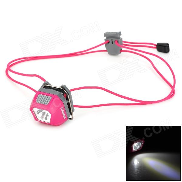 SUNREE Mini 24lm 5-Mode 1-LED White + 2-LED Red Headlamp - Deep Pink (2 x CR2032) налобный фонарь sunree 2 sports2