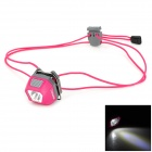SUNREE Mini 24lm 5-Mode 1-LED White + 2-LED Red Headlamp - Deep Pink (2 x CR2032)