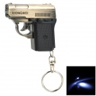 SQ-2 2-in-1 Pistol style 1-LED White + 1-LED Red Flashlight Keychain - Bronze + Black (3 x LR41)