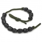 Skull Pace Counter Beads - Black + Deep Green