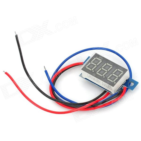 RD04 Mini 0.36 Yellow LED Digital Voltage Measuring Meter Module - Black + Blue optometric economic digital pupillometer cx8 stable quality ce marked accurate measuring pd meter