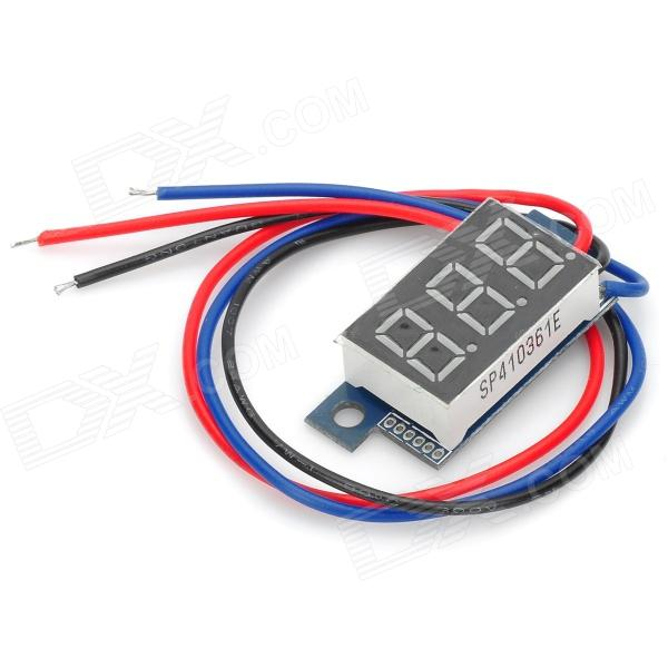 RD03 Mini 0.36 Red LED Digital Voltage Measuring Meter Module - Black + Blue optometric economic digital pupillometer cx8 stable quality ce marked accurate measuring pd meter