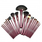 MEGAGA 299 21-in-1 Make-up / Cosmetic Fiber Wool Brushes w/ PU Bag - Champagne