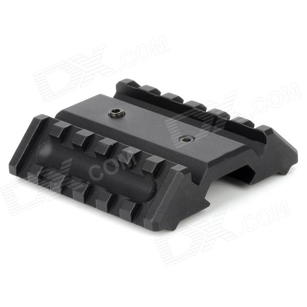 Dual Offset 21mm Gun Rail Mount - Black