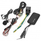 Multifunction Quadband GPS / GSM / GPRS Vehicle Anti-Theft Alarm Tracker System - Black