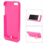 Stylish 2200mAh Rechargeable Li-ion Battery Power Back Case w/ Holder for iPhone 5 - Rosy