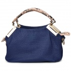 Z016 Water Resistant Women's PU Handbag / Shoulder Bag - Deep Blue