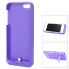 Stylish 2200mAh Rechargeable Li-ion Battery Power Back Case w/ Holder for iPhone 5 - Purple